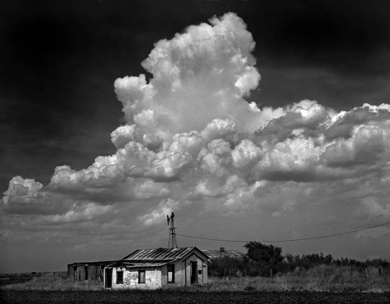 Farmhouse and Clouds